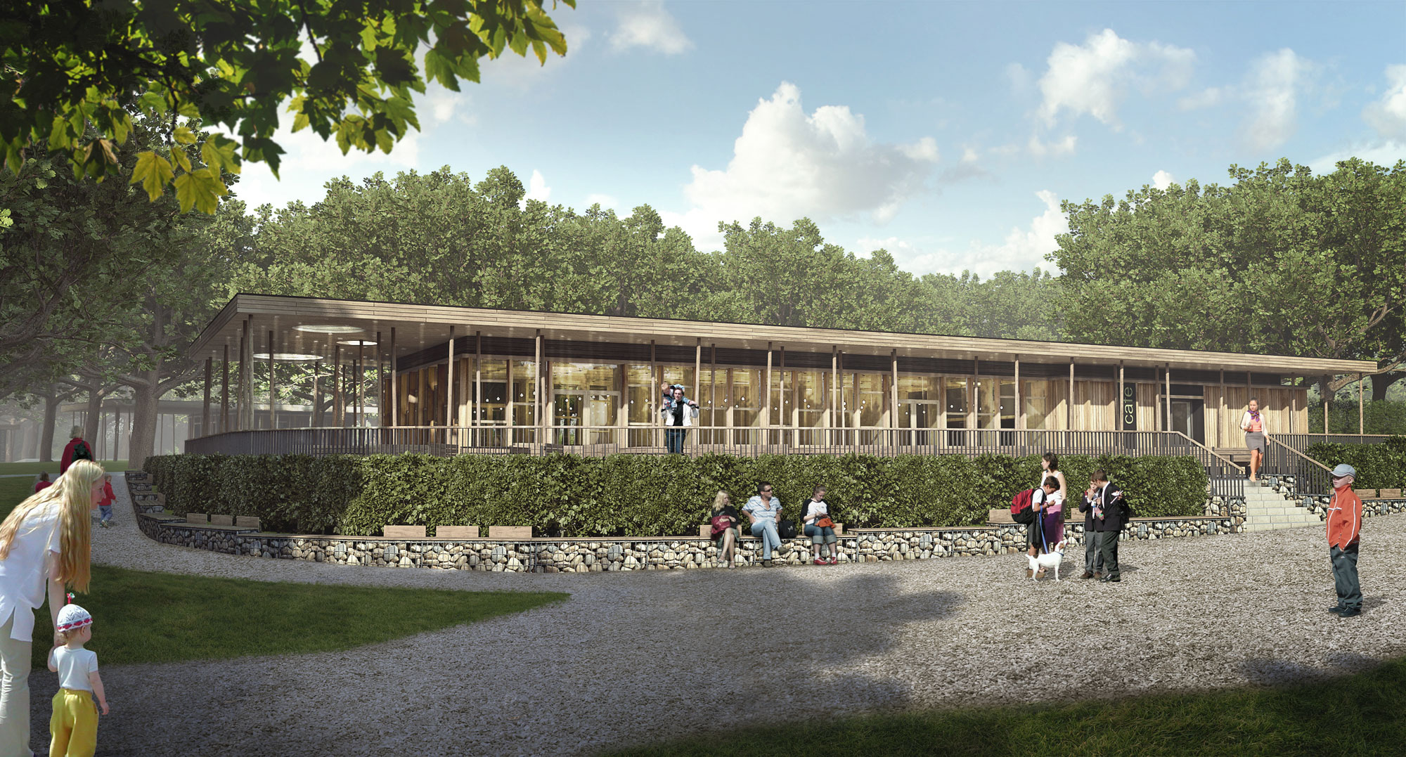 Wendover Woods - Visitors Place / Cafe - 3D visualisation