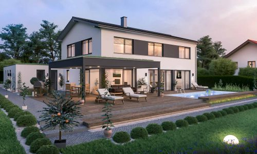 Exterior Architectural Rendering – Single Family House in Unterdietfurt