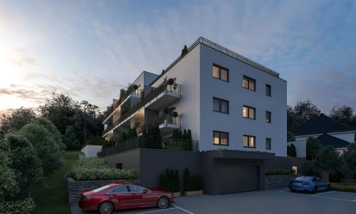 Exterior Architectural Rendering – Mallersdorf – Residential Building – South-West View