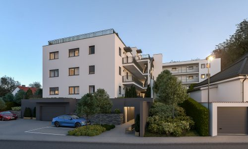 Exterior Architectural Rendering – Mallersdorf – Residential Building – South-East View