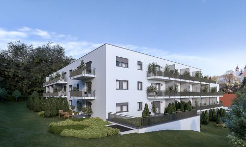 Exterior Architectural Rendering – Mallersdorf – Residential Building – North-West View
