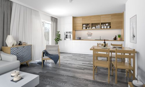 Interior Visualization – Mallersdorf – Residential Building – Kitchen / Dining