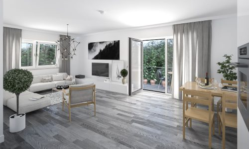 Interior Visualization – Mallersdorf – Residential Building – Living Space