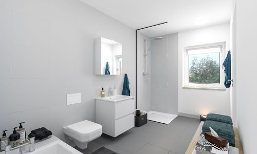 Bathroom Visualization – Mallersdorf – Residential Building