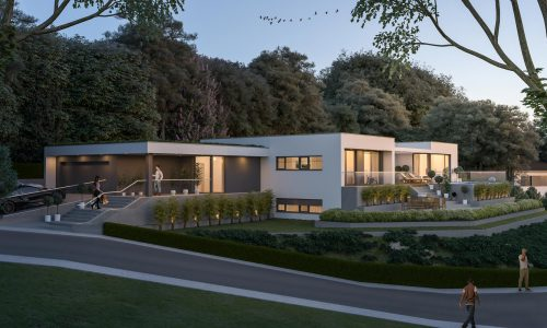 Exterior Architectural Rendering – Pfaffenberg – Single Family House