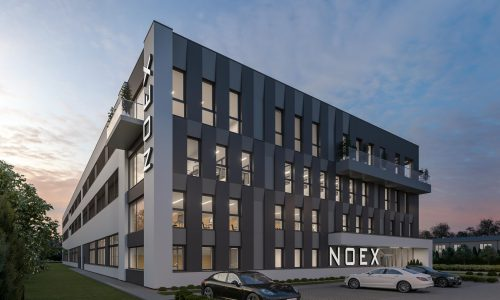 Exterior Architectural Rendering – Poland – NOEX headquarters – Side