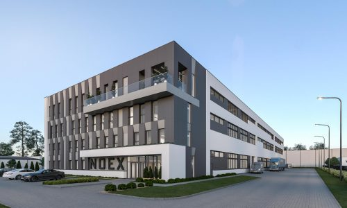 Exterior Architectural Rendering – Poland – NOEX headquarters – Front